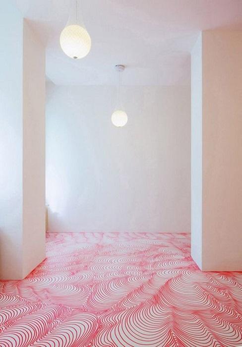 pardoseala PVC - spatiu in stil eclectic