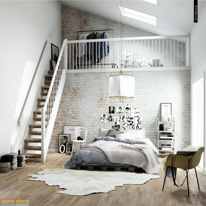 Dormitor în stil scandinav. Sursă: britishceramicstyle.com