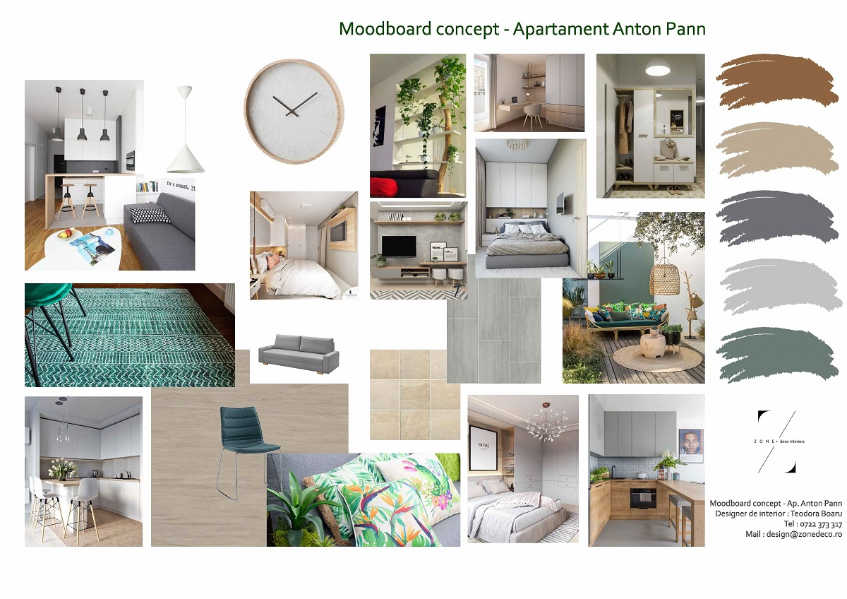 Concept amenajare apartament Cluj - design interior rezidențial